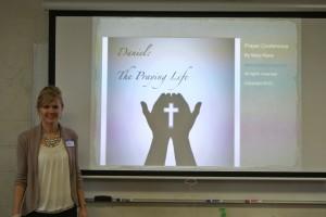 Mary speaking at the prayer seminar at Granger Community Church in Granger, Indiana.