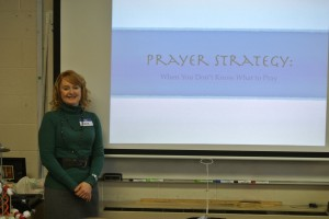 Jane speaking at the prayer seminar at Granger Community Church in Granger, Indiana.