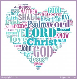 God's word cloud