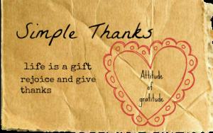 SImple Thanks Gratitude