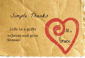 SImple Thanks all is grace photo