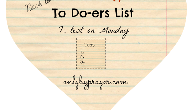 To Do-ers List, Back to School: Test