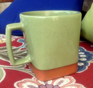 green mug, tea cup, coffee cup,