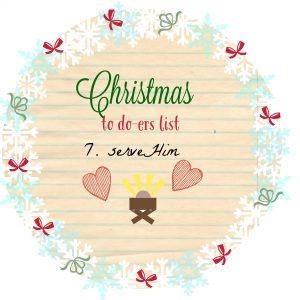 Serve Jesus this Christmas