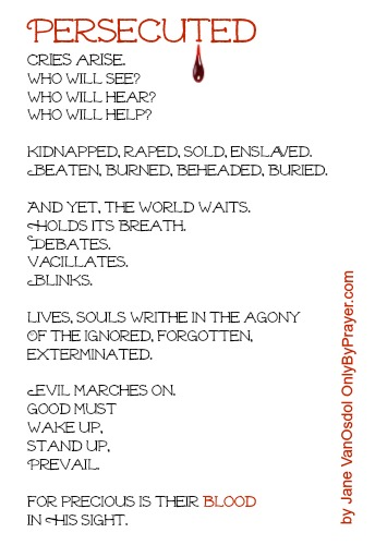 A Poem for the Persecuted