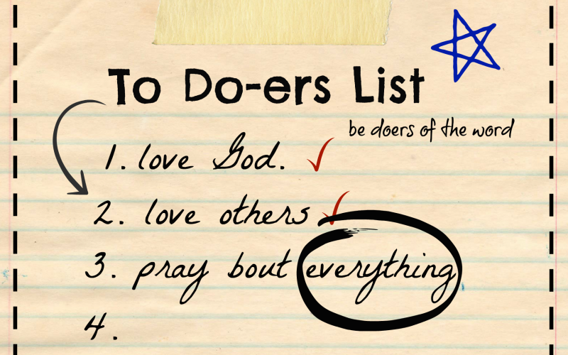 To Do-ers List: What He Says