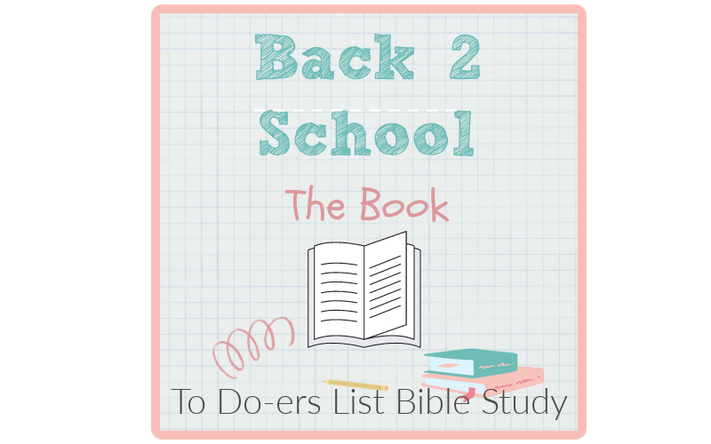 The Book back to school to doers list
