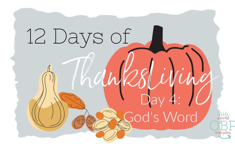 ThanksLiving: God's Word